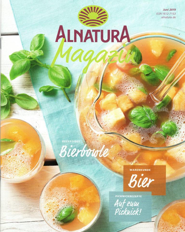 Titelblatt ALNATURA MAGAZIN Juni 2019