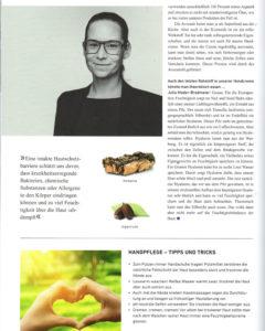 """Artikel und Interview (Seite 2) zum Thema """"Optimaler Wirkungsmix - Naturkosmetik von BIRKENSTOCK"""" erschienen im BIRKENSTOCK Mitarbeitermagazin."""