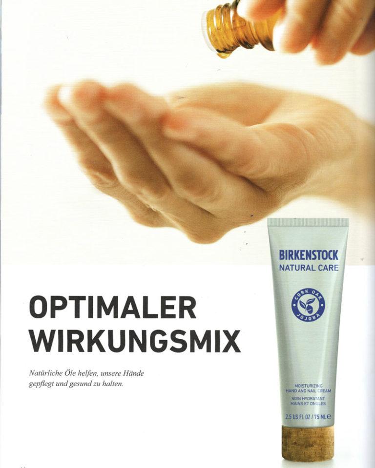 """Artikel und Interview zum Thema """"Optimaler Wirkungsmix - Naturkosmetik von BIRKENSTOCK"""" erschienen im BIRKENSTOCK Mitarbeitermagazin."""