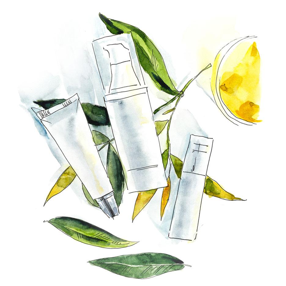 Kosmetikverpackungen - Zeichnung